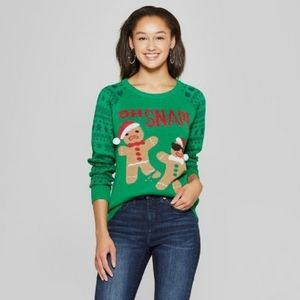 Sweaters - Gingerbread ugly christmas sweater fair isle